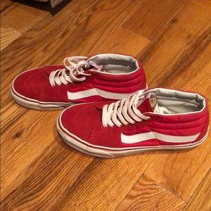 Vans classic red hightop!